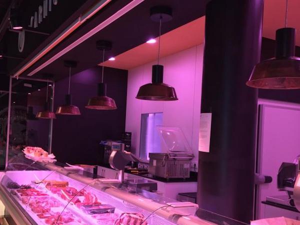 Iluminación LED carnicería